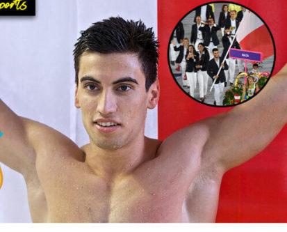Maltalı Milli sporcu Andrew Chetcuti, 100 metre yüzme yarışlarında 2. sırada yer aldı