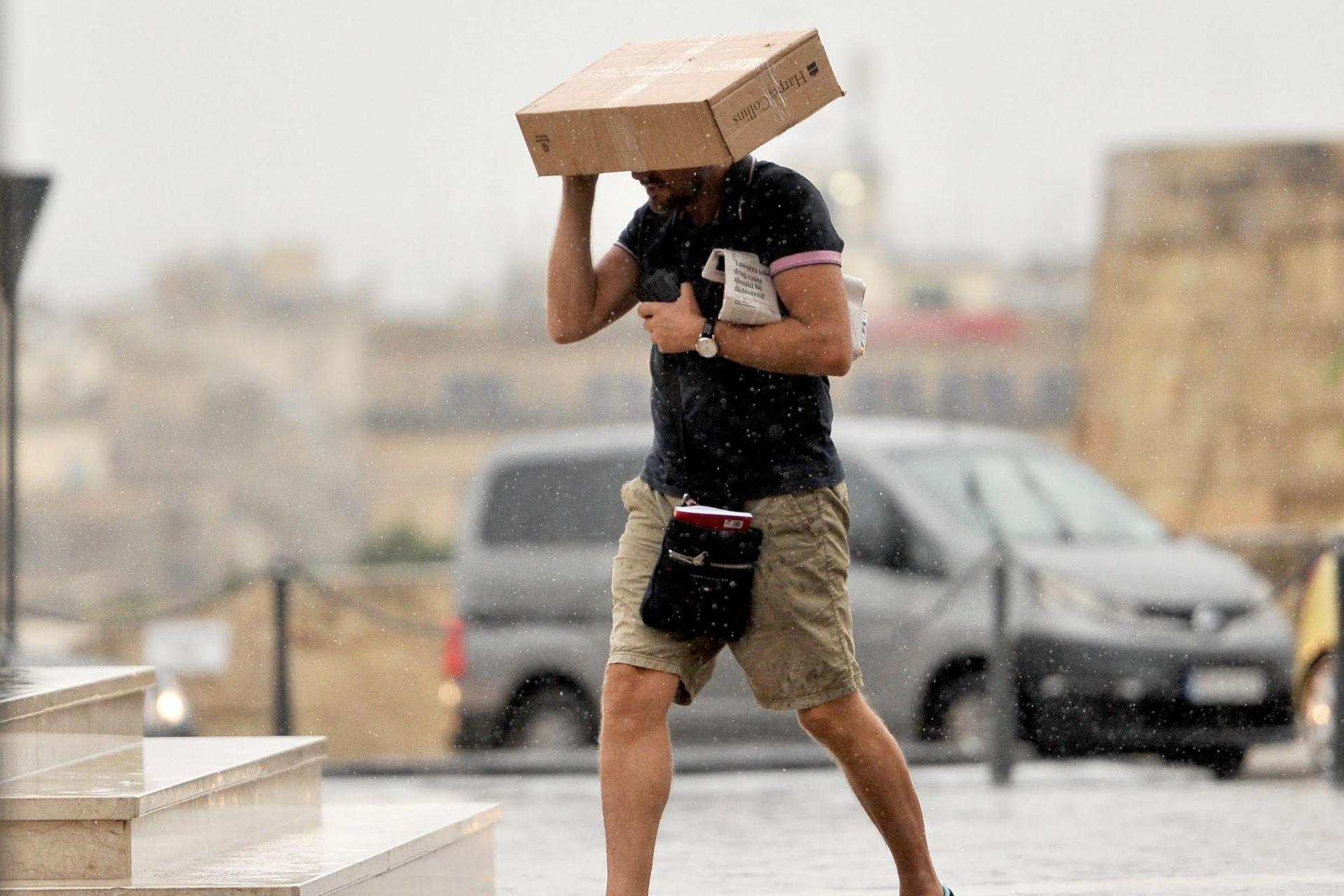 Malta'da Eylül ayının ilk yağmuru